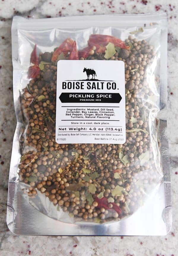 picking spice in clear cellophane bag