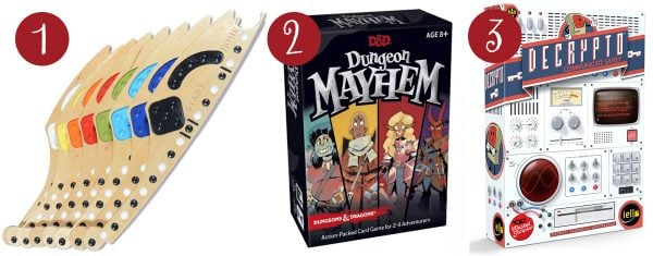 jokers and marbles, dungeons and mayhem, decrypto