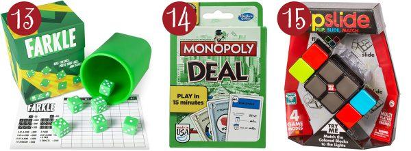 farkle, monopoly deal, flipside