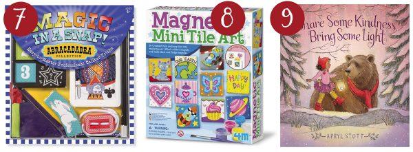 melissa and doug magic set, magnetic tile kit, share a book of kindness