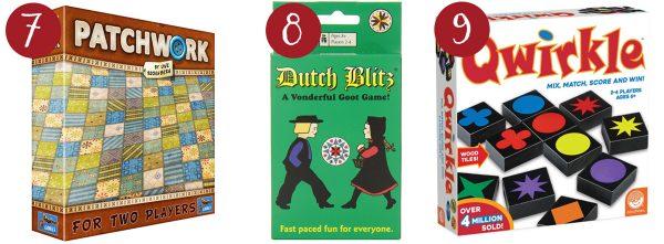 patchwork game, dutch blitz, qwirkle