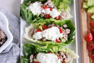 Quick and Easy Greek Lettuce Wraps