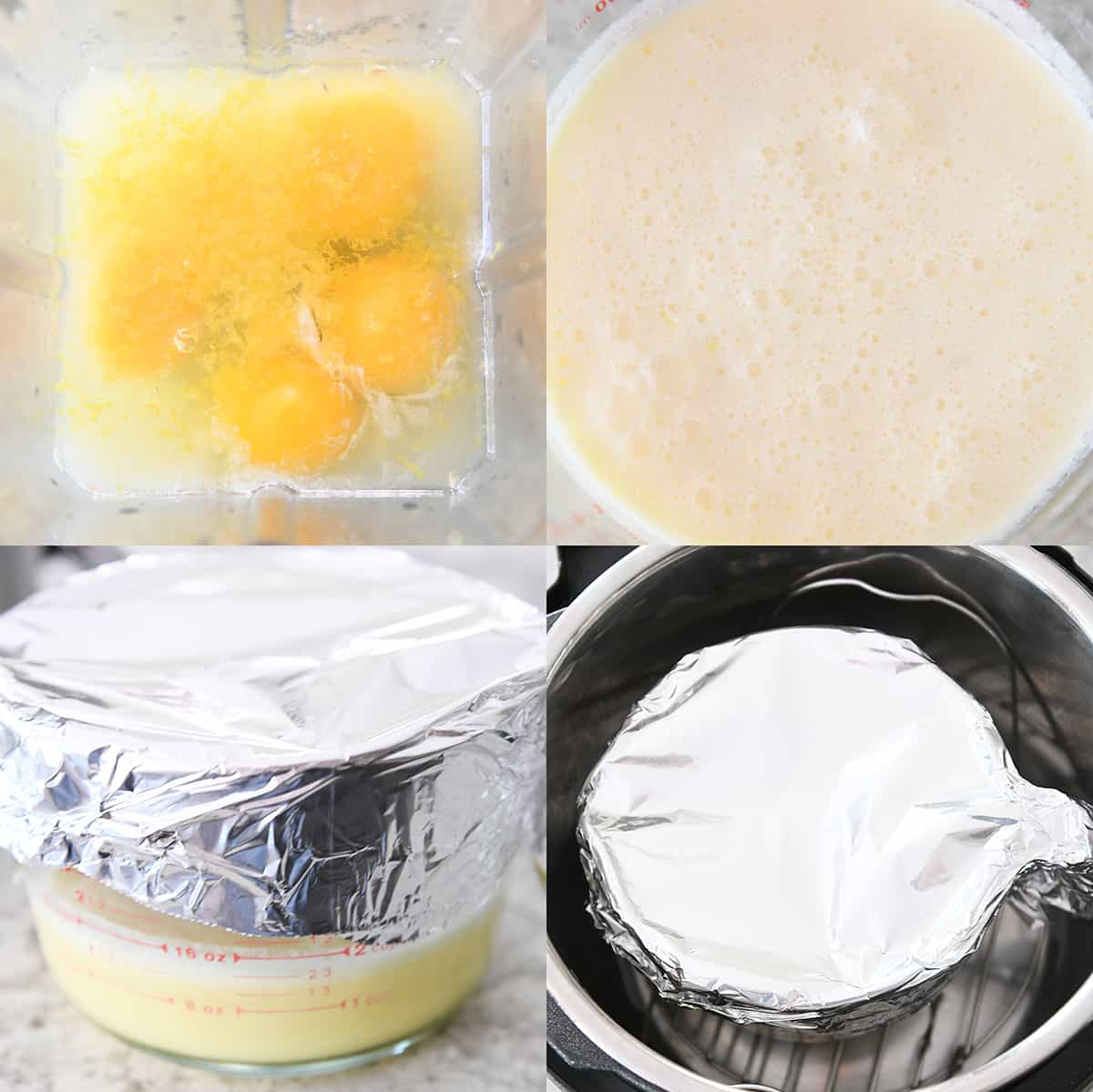 step-by-step preparation of easy instant pot lemon curd