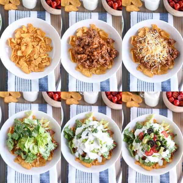 step by step topping guide for floating taco bowls recipe