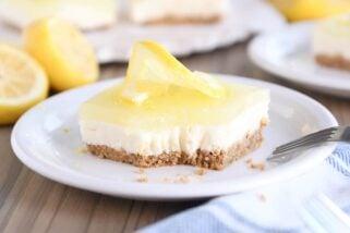 Lemon White Chocolate Cream Bars
