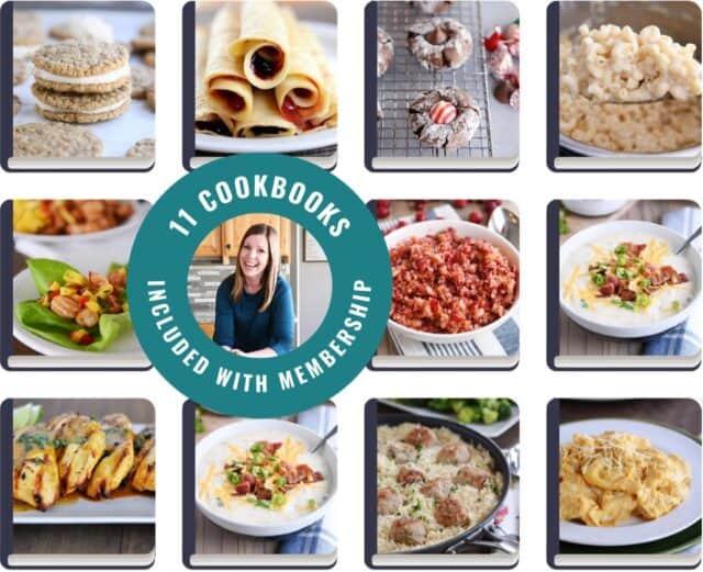 Cookbook Grid - 11 Cookbooks Included with Membership