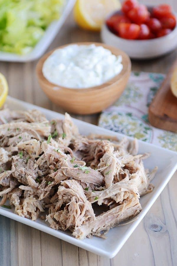 Instant Pot Greek Pork