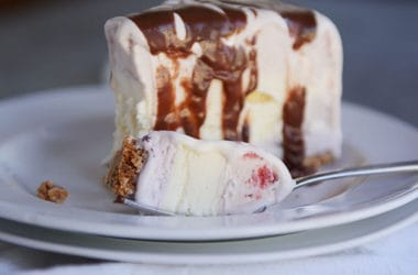 Simple Ice Cream Cake with Sugar Cone Crust
