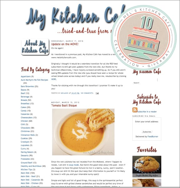 Mel's Kitchen Cafe 10th Anniversary + Giveaway