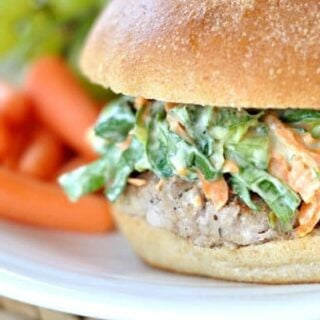 Turkey Burgers With Romaine Slaw