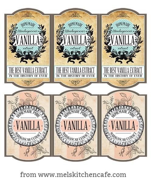 Vanilla Extract Lables copy