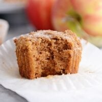 Cinnamon and Sugar Dusted Applesauce Muffins