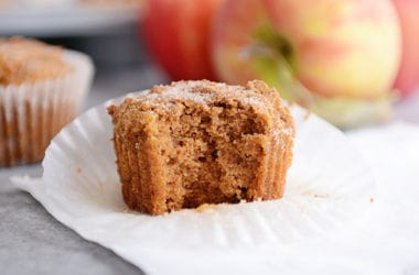 Whole Grain Applesauce Muffins
