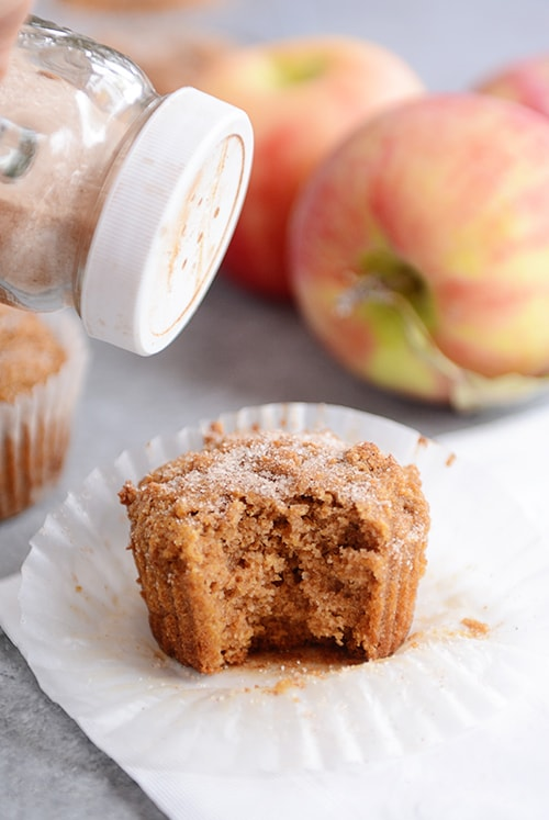 Whole Grain Applesauce Muffins