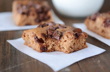 Chocolate Chip Applesauce Snack Cake