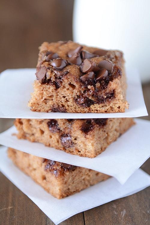 Chocolate Chip Applesauce Snack Cake