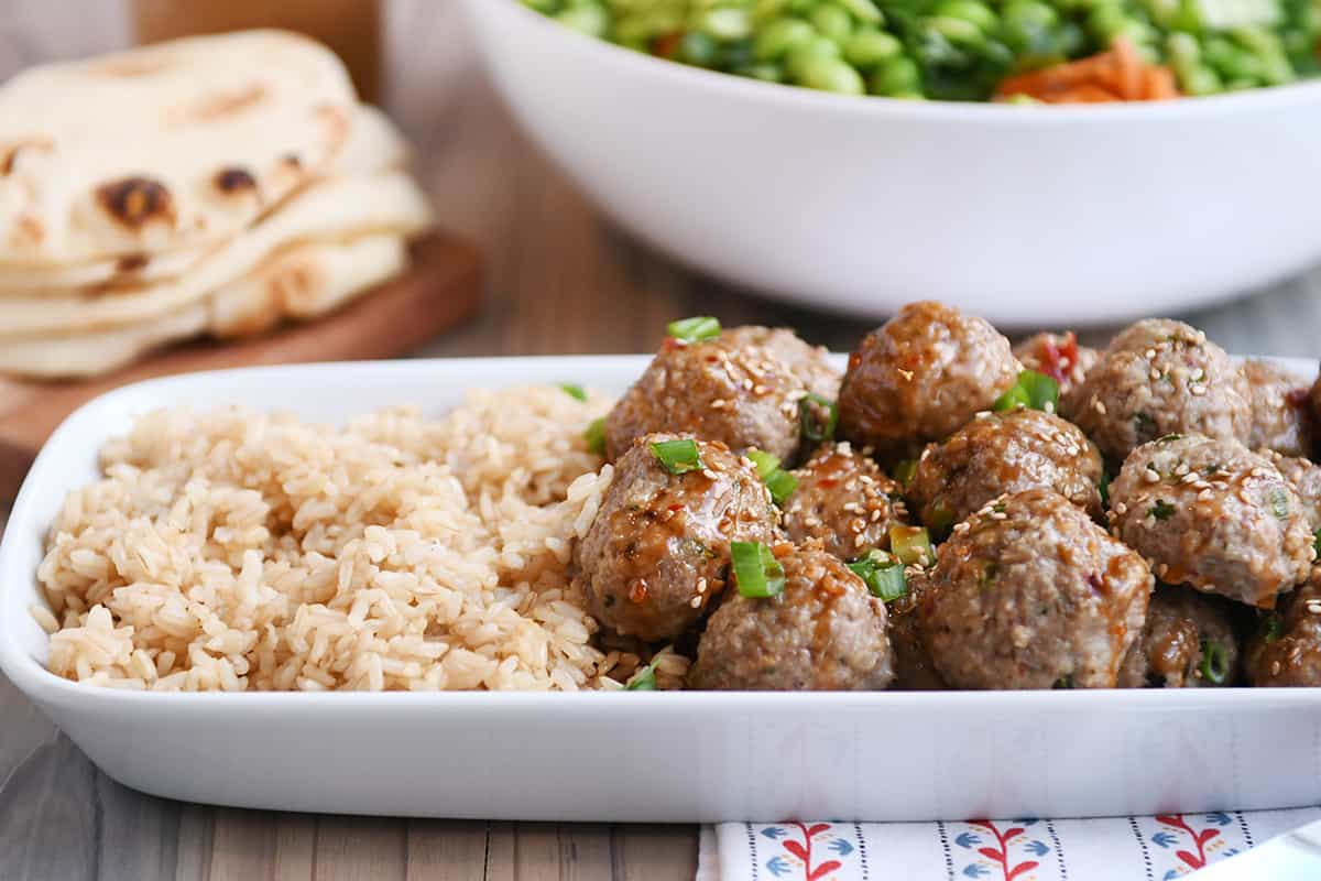 Asian Style Meatballs With Sweet Chili Sauce Mel S Kitchen Cafe