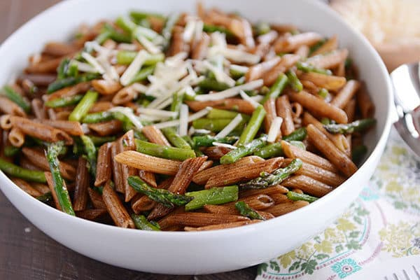 Penne with Roasted Asparagus and Balsamic Brown Butter
