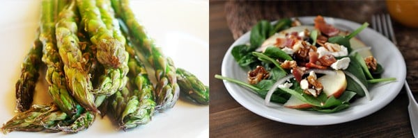 asparagus and salad