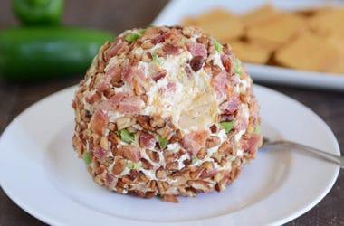 Bacon Jalapeno Popper Cheeseball