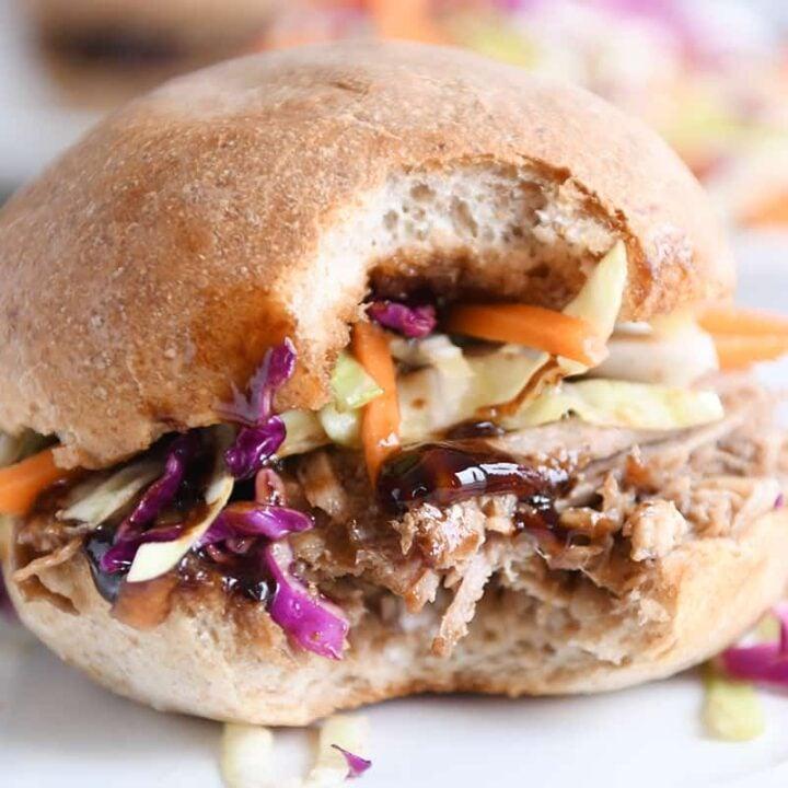 Honey Balsamic BBQ Pork Sandwiches {Instant Pot or Slow Cooker}