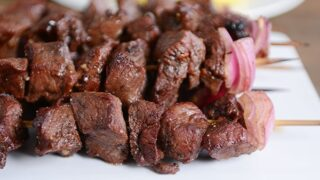 Balsamic Beef {or Chicken} Kebabs