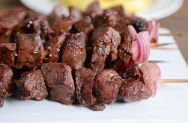 Balsamic Beef or Chicken Kebabs
