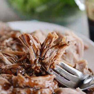 Sweet Balsamic Glazed Pork Loin {Slow Cooker + Instant Pot}