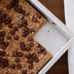 Healthier Banana Bread Chocolate Chip Oat Snack Bars