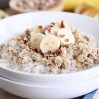 Instant Pot Banana Bread Steel Cut Oats