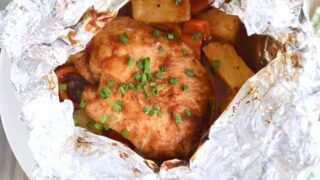 BBQ Hawaiian Chicken Foil Packets {Grill or Oven}