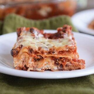 Cheesy Black Bean Lasagna