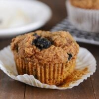 Whole Wheat Pumpkin Blueberry Muffins