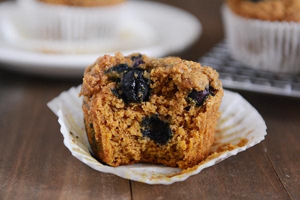 Whole Wheat Blueberry Pumpkin Muffins