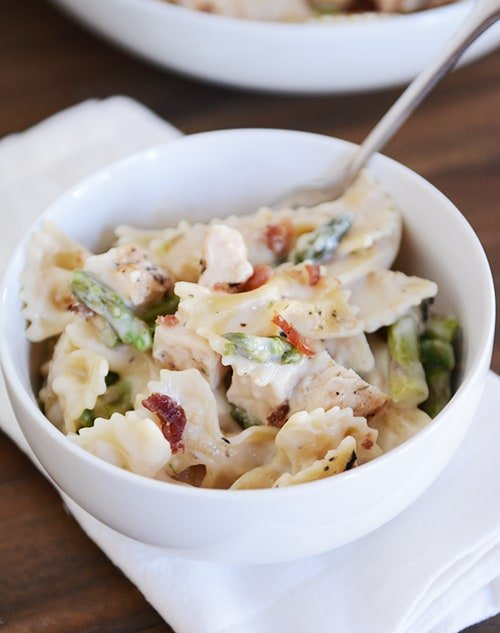 Creamy Bowtie Pasta with Asparagus