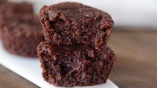Fudgy Coconut Oil Brownie Bites