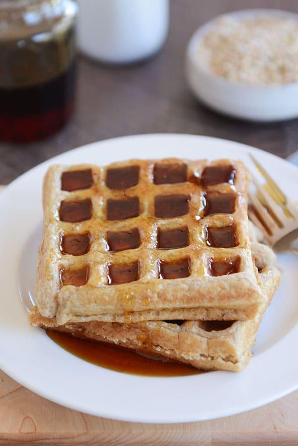 Gluten-free Buckwheat Oat Waffles or Pancakes