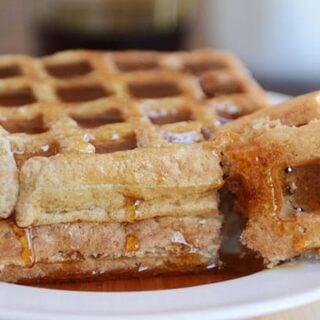 Overnight Buckwheat Oat Gluten-Free Waffles or Pancakes
