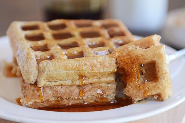 Overnight Buckwheat Oat Buttermilk Waffles or Pancakes