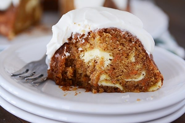 Carrot Cake Cream Cheese Swirl Bundt Cake