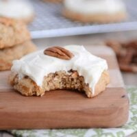 Carrot Cake Cookies with Whipped Cream Cheese Frosting