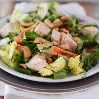 Chopped Chicken Cashew Salad with Homemade Creamy Cashew Dressing