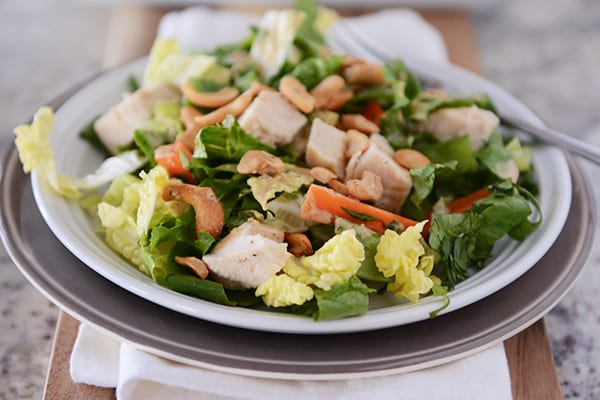 Chopped Chicken Cashew Salad with Homemade Creamy Cashew Dressing