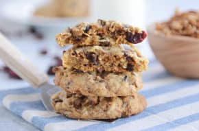 These delicious granola cookies are incredible (can use storebought or homemade granola)! Soft and chewy, they are a cookie lover's dream!