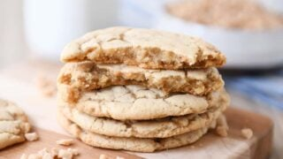 Thin and Chewy Toffee Cookies