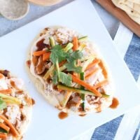 Chicken Banh Mi Flatbread with Incredible Sauces X 2