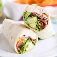Chicken BLT Burritos with Creamy Southwest Dipping Sauce