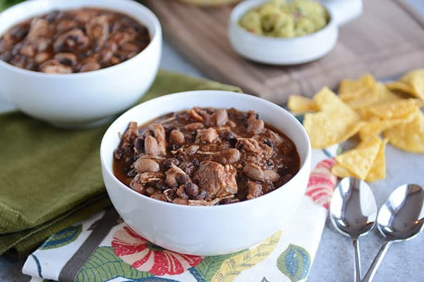 Pressure Cooker Chicken and Black Bean Chili