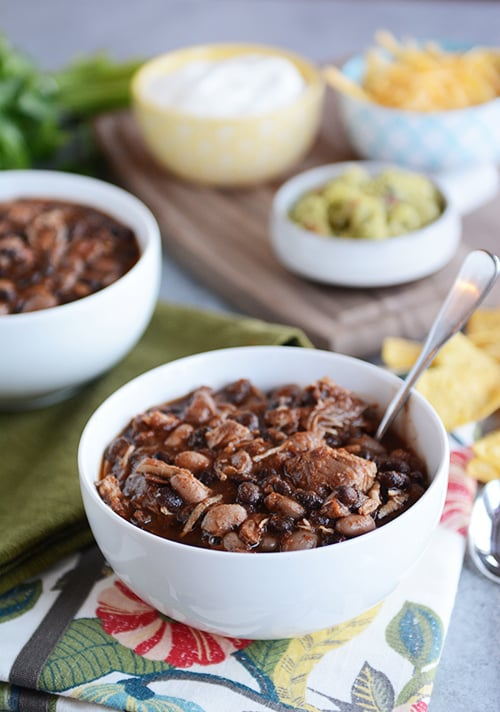 Pressure Cooker Chicken and Black Bean Chili