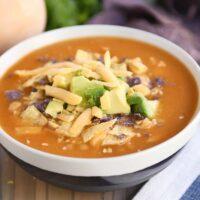 The Best Chicken Enchilada Soup